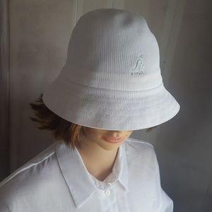 Kangol Tropic Casual White Bucket Hat Small/Medium